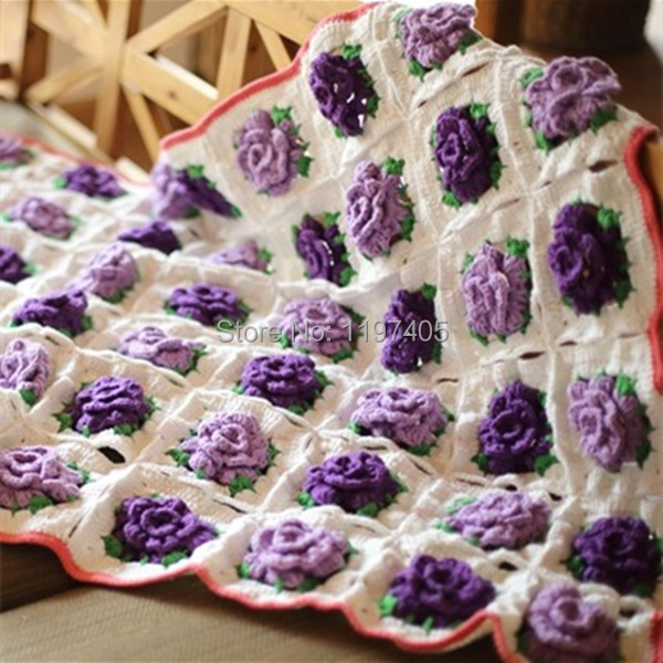 Cheap Fashion Flower Crochet Blanket Patterns Handmade Crochet Baby