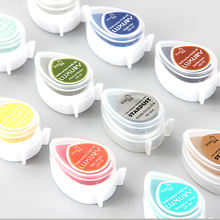Cute Water Drop Ink Pad Fast Drying Craft Pigment Ink Pad For Rubber Stamps Scrapbooking Paper Wood Craft Fabric Drop Shipping