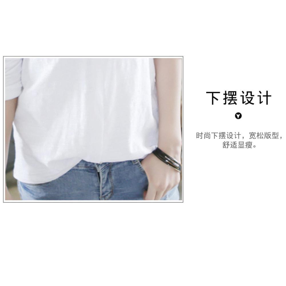 Yfashion Women Stylish V Neck Long Sleeve White T Shirt Elegant Loose Large Size Tops in T Shirts from Women 39 s Clothing