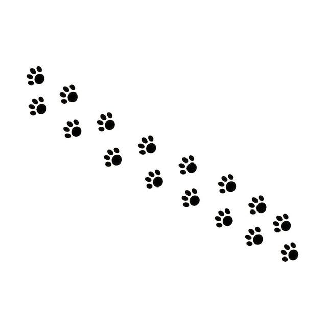 155cm25cm Beautiful Animal Cat Paw Prints Vinyl Decal Car Sticker