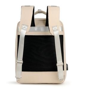 Image 2 - 大容量男性防水ナイロンバッグ女性 15.6 インチノートパソコンのバックパック充電ポートランドセル代の少女少年 2019