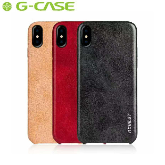 wholesale dealer 2fe37 33662 US $18.99 |GCASE Brand Luxury Genuine PU Leather Case For Apple iPhone X  Case GCASE Elite Series Back Cover for iPhone X Capa-in Fitted Cases from  ...