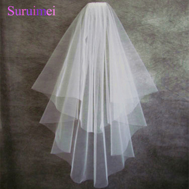 Tulle High Quality Cut Edge Two Layer Wedding Veil Bridal Veils Wedding Accessories D0012 Shipping Time 90 Days