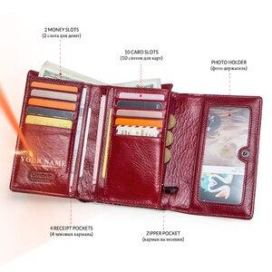 Image 3 - Luxus Marke Frauen Kupplung Brieftaschen Aus Echtem Leder Schlange Muster Druck Lange Geldbörse Weiblichen Handy Halter Tasche Dollar Preis