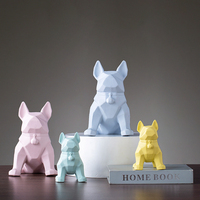 Beautiful abstract dog home decoration sculpture Personality geometric art Cartoon dog offic desk crafts statue