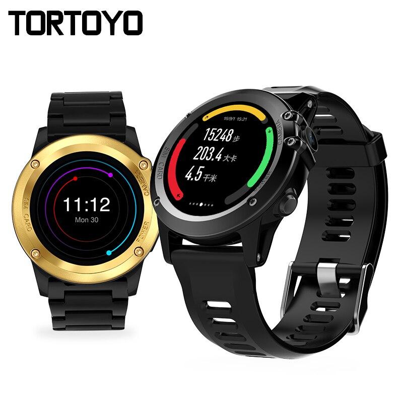 H1 Montre Smart Watch Android 4.4 OS Smartwatch MTK6572 512 MB 4 GB ROM GPS SIM 3G Moniteur de Fréquence Cardiaque Caméra Étanche Sport montre-bracelet