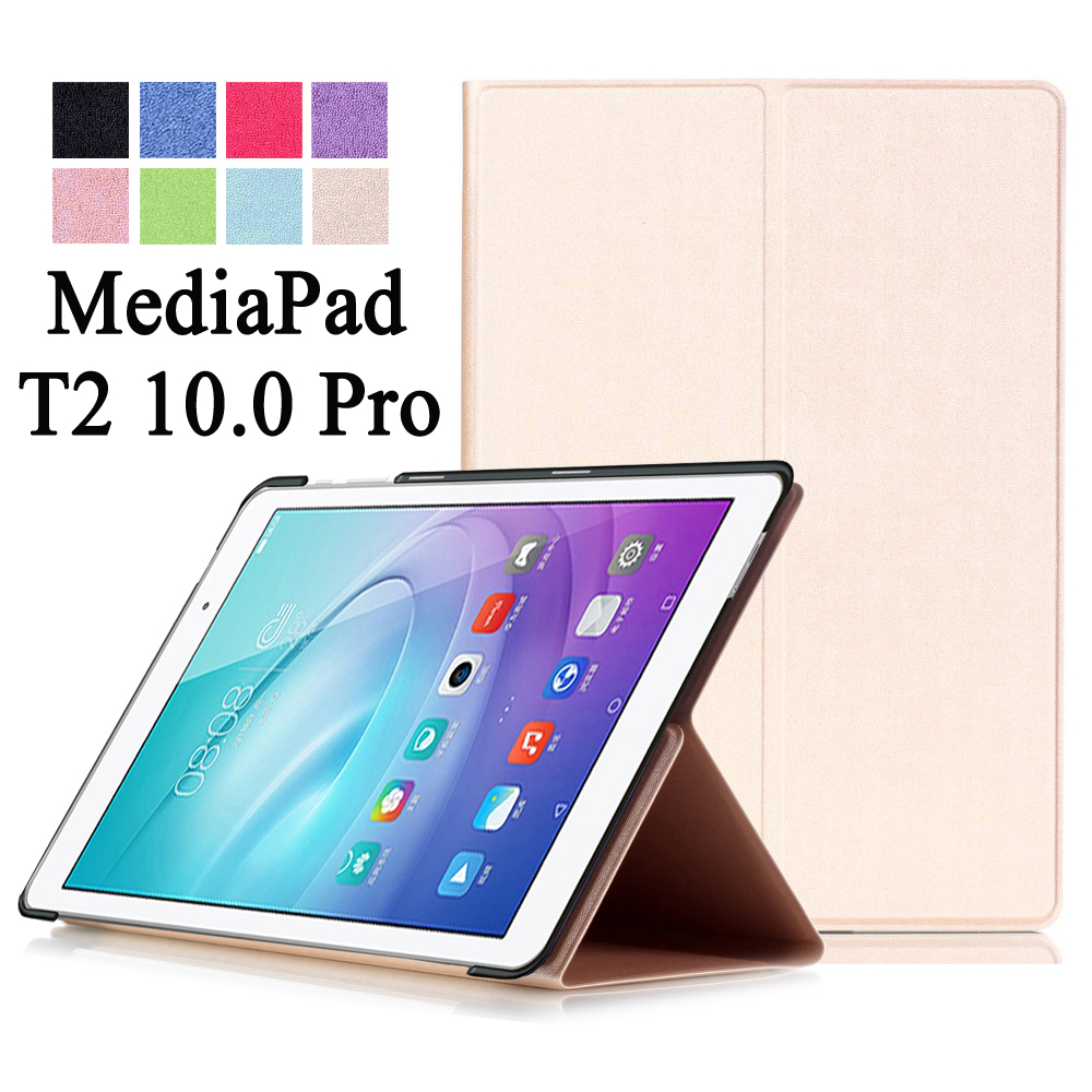 For Huawei MediaPad T2 10.0 Pro FDR-A01W / FDR-A03L Luxury Stand Folio Flip PU Leather Skin Magnetic Cover Case new fashion pattern ultra slim lightweight luxury folio stand leather case cover for huawei mediapad t2 pro 10 0 fdr a01w a03l