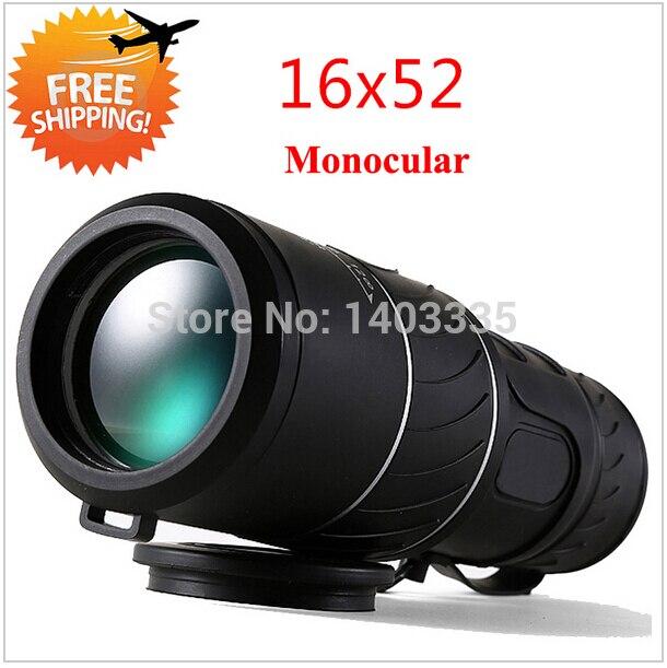 Monocular Telescope 16x52 Dual Focus Telescopio Green Film Binoculo Optical Prism Hunting High Quality Tourism Scope Binoculars  цены
