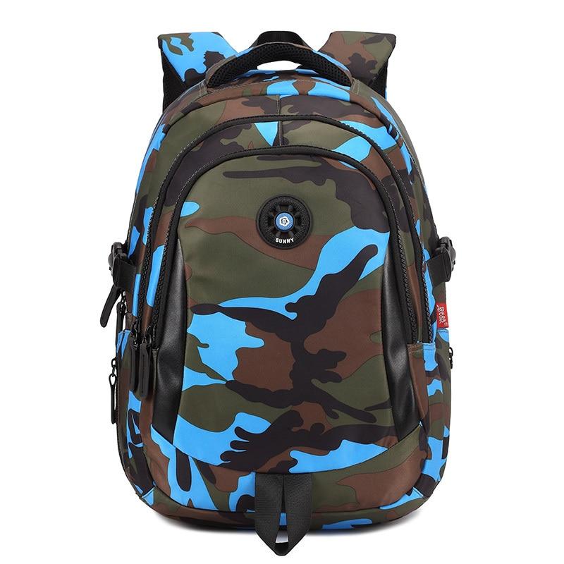 Camouflage color nylon waterproof children school bags kids backpack bag mochila infantil escolar bolsa for teenager