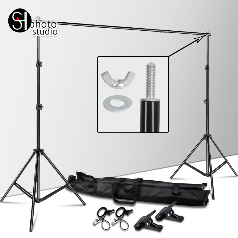 2 M X 2 M arrière-plan cadre Support système photographie Studio arrière-plan Support caméra et accessoires Photo + sac de transport