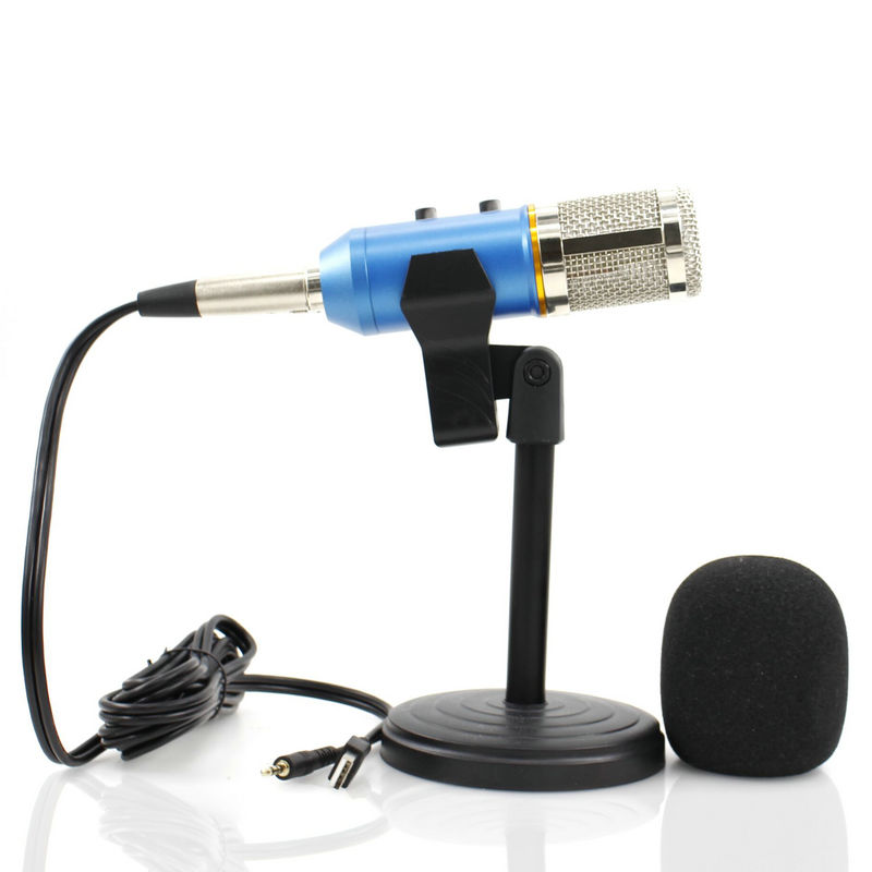 mk f200tl usb karaoke condenser microphone with desktop stand audio sound recording. Black Bedroom Furniture Sets. Home Design Ideas