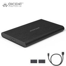 Qicent 2.5-pouces usb type c 3.0 externe hdd disque dur disque Case boîtier pour 7mm/9.5mm HDD et SSD Outil-Livraison Conception-Noir