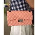 Geléia de moda de nova Mulheres Messenger Bags cadeia Crossbody pequena bolsa de praia bolsa bolsa Sacos de Ombro Bolsas de Marca De Silicone