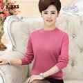 Camisola 2016 novas mulheres suéteres e pulôveres de manga longa camisola pulôver das mulheres plus size roupas mãe camisola camisa básica