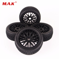 4PC/Set 1/8 Scale RC Off Road Buggy Car Small Block Tire Tyre & Wheel 22046 26005 For HSP HPI 1:8 RC Off Road Racing Car