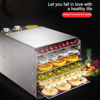 6 Layer Household Dried Fruit Machine Stainless Steel Fruits And Vegetables Dehydration Food Dryer Machine 220V