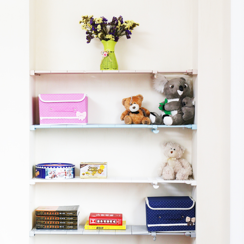 Wall Mounted Rack Layered Separator Adjustable Layered Shelves - Bathroom compartment