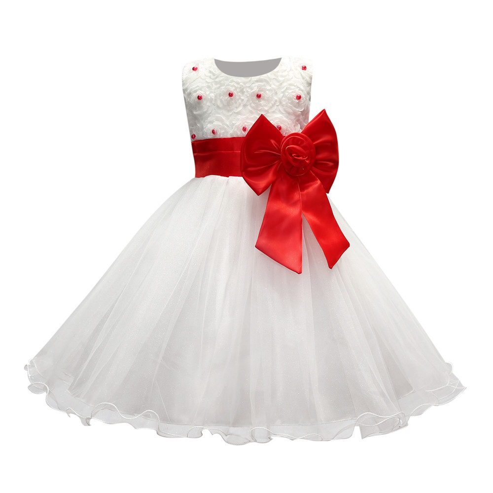 Pearl 3d flower roses pattern wedding dresses for kids white and pearl 3d flower roses pattern wedding dresses for kids white and blue sleeveless 1 to 10 years girls party dress with sashes in dresses from mother kids ombrellifo Gallery