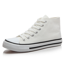 Discount Autumn Men's Vulcanized Shoes Canvas Platform Fashion Sneakers Vulcanize Flat with High Mouth Non-slip Breathable