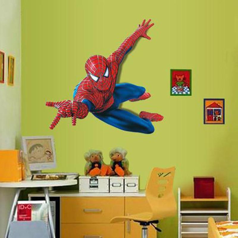 Spider Boy Wall stickers 3D Wallpaper chirdren room Nursery School ...