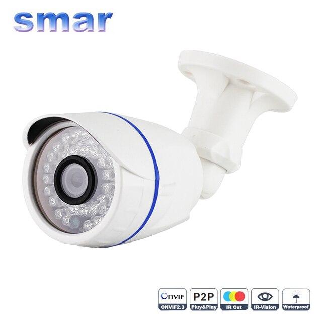 1.0MP/2-МЕГАПИКСЕЛЬНАЯ Камера Пули 720 P 1080 P Открытый POE, Ip-камера HD Безопасности Водонепроницаемый Ночного Видения Внешний Аудио CCTV Камеры ONVIF