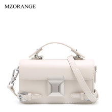 Women White Messenger Box Bag Lady Handbags Genuine Leather Women's Fashion Shoulder Bag Famous Brand Luxury Tote Crossbody Bags women handbags fashion brand genuine leather messenger bag famous brand women shoulder bags small crossbody bags for women