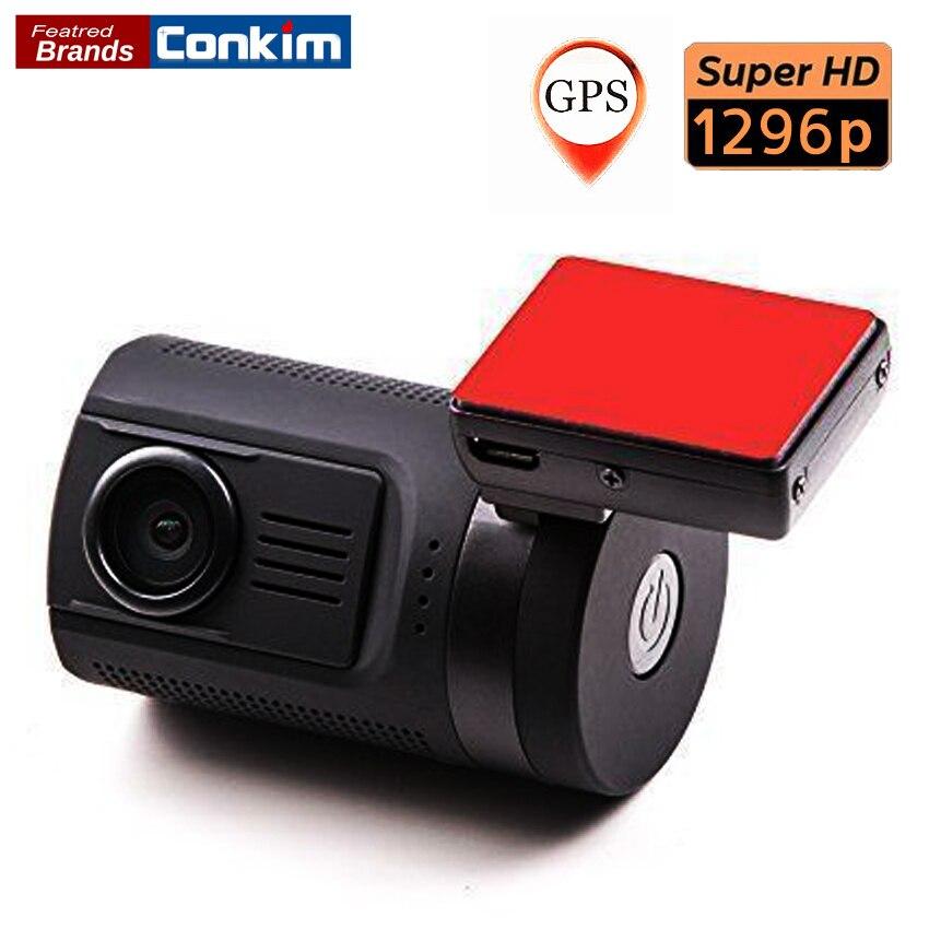 Conkim Car DVR Camera Mini 0806 Dash Cam Dash Camera For Ambarella A7LA50 Chip Super FHD 1296P With GPS Discrete Dash