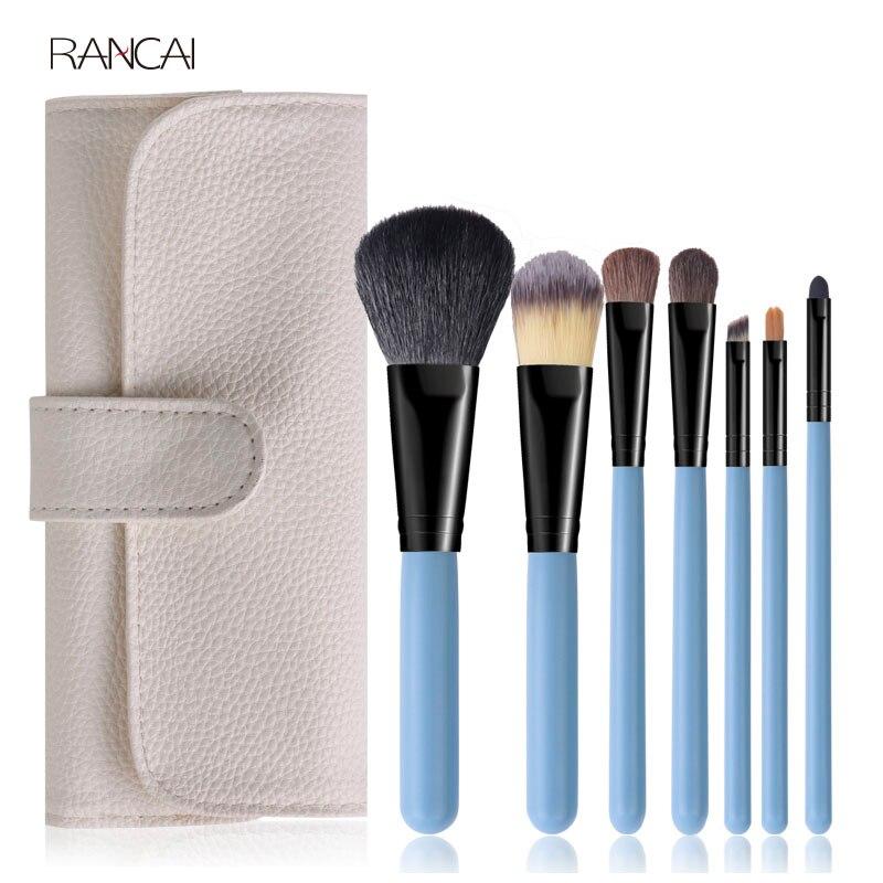 7pcs Blue Makeup Bru...