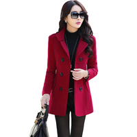 2019 Winter Clothes Short Wool Coats Women Woolen jackets Fashion Double breasted Cardigan Jacke Elegant 7 colors to choose from