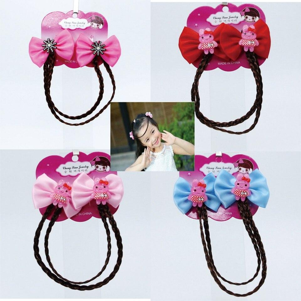 цена на isnice New Arrival Cute Bow Cartoon Star Rabbit Girls Wig Hair Clips Headbands Hairbands Kids Lovely Hair Ornament Accessories