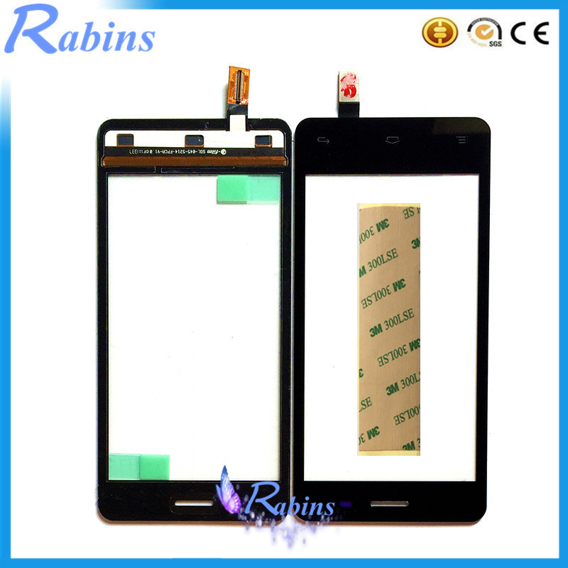 SYRINX 4.5' Touch Screen For FLY IQ4403 IQ 4403 Phone Front Glass Sensor Panel Replacement Touch Screen Digitizer Free 3m Tape