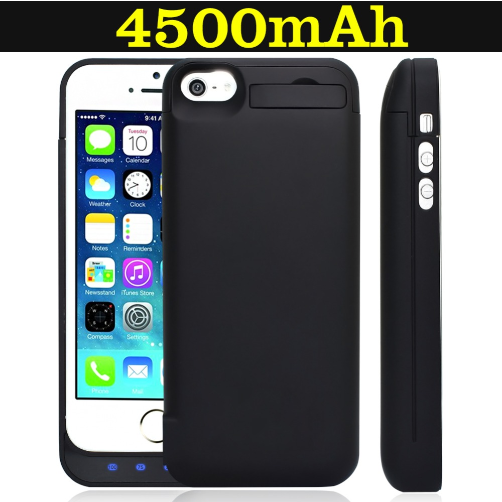 iphone 5c charging case 4500mah charging for iphone 5 5s 5c se external 2562