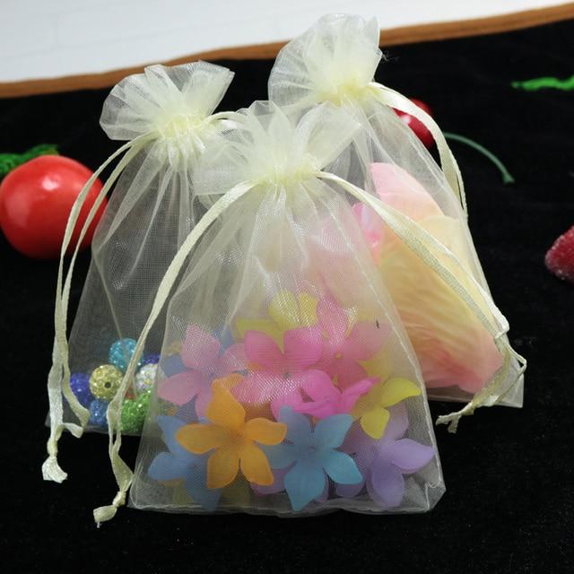 Whole 50pcs Lot Drawable Beige Large Organza Bags 30x40 Cm Favor Wedding Gift