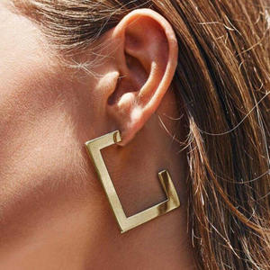 RscvonM Exaggeration Large Geometric Irregular Gold Color Big Metal Dangle Earrings For Women Fashion Punk Statement Earrings