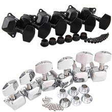 Chrome 3×3 Semiclosed Tuning Pegs Machine Heads for Acoustic Guitar 2 Colors 3 Right + 3 Left Tuning Pegs High Quality
