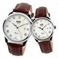 Casal Relógios De Pulso Dos Homens Das Mulheres Amantes de Relógios Pulseira de Couro Menina Moda Casual Senhoras relógio de Quartzo Marca de Luxo Relogios Femininos