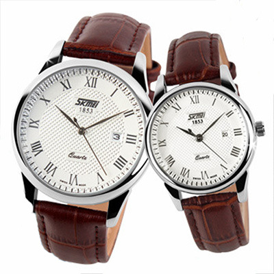купить Couple Wristwatches Women Men Leather Strap Watches Lovers Girl Fashion Casual Ladies Quartz Luxury Brand Relogios Femininos недорого