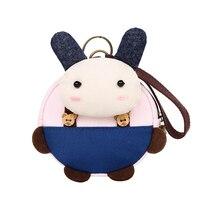 2017 Kawaii Animal Dos Desenhos Animados da Forma Gril Crianças Coin Purse Bag Crianças bonito Mudança Bolsa Carteira Criança Pequena Bolsa Para A Menina pequena bolsa