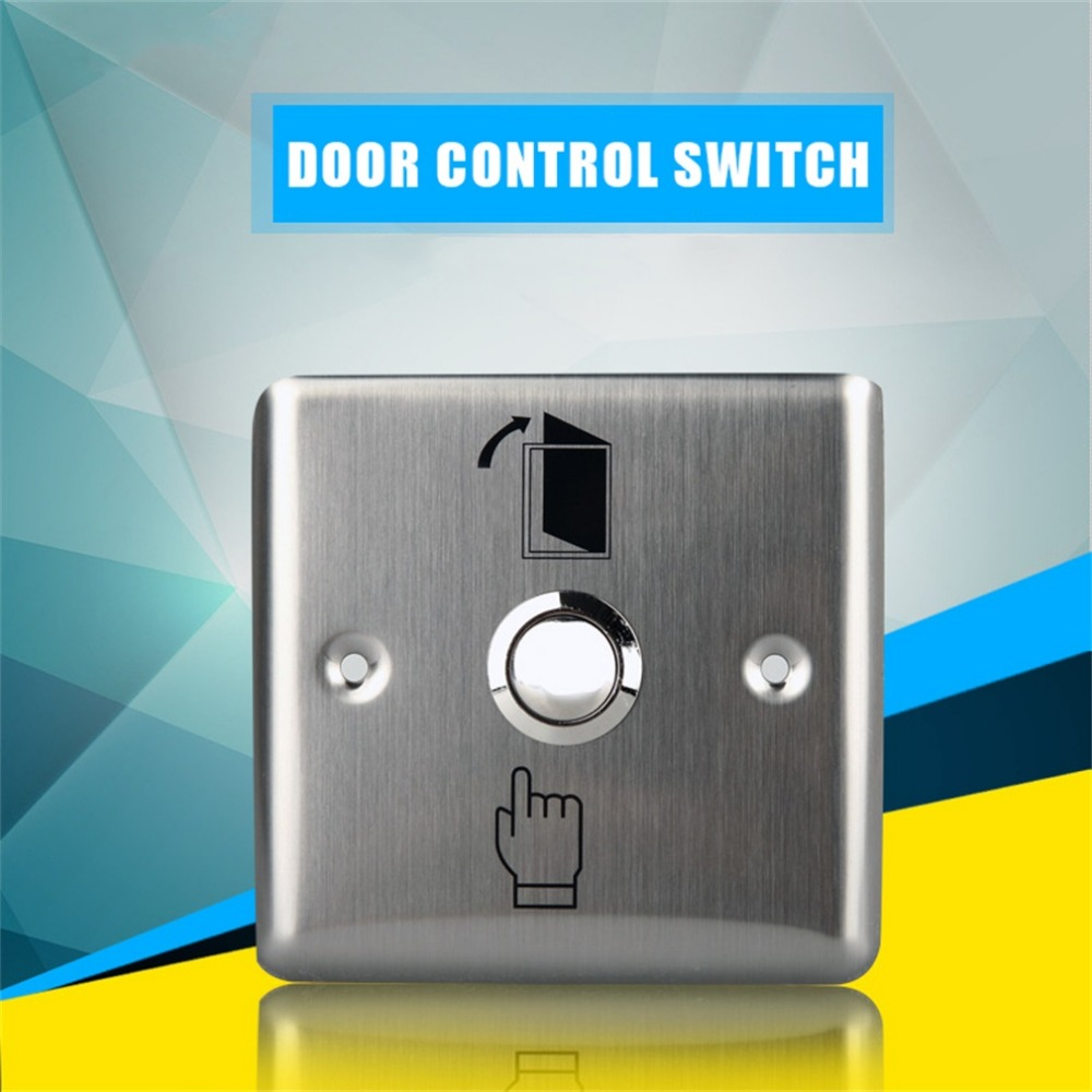 Access Control K14 Gate Opener Access Light Switch Push Button Wall Switch Interruptor Stainless Steel Panel new one button control box switch abs weatherproof push button switch mayitr automatic gate opener switches