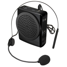 ELEGIANT Portable J-801 Card MP3 Megaphone Microphone Amplifier Clip Body Pack Headset Microphone Speaker For Teaching US Plug