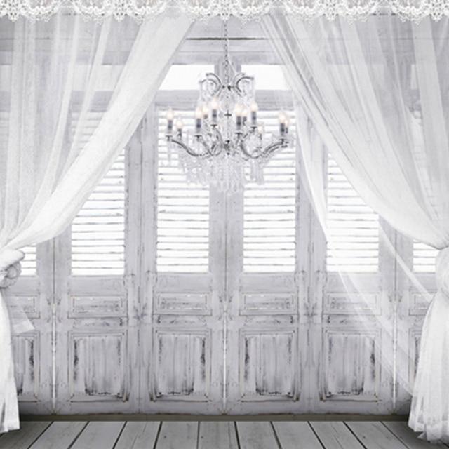€ 10.67 19% de réduction|Droplight en Vintage romantique chambre grise  plancher en bois blanc rideau bois fenêtre porte mariage photographie  décors ...