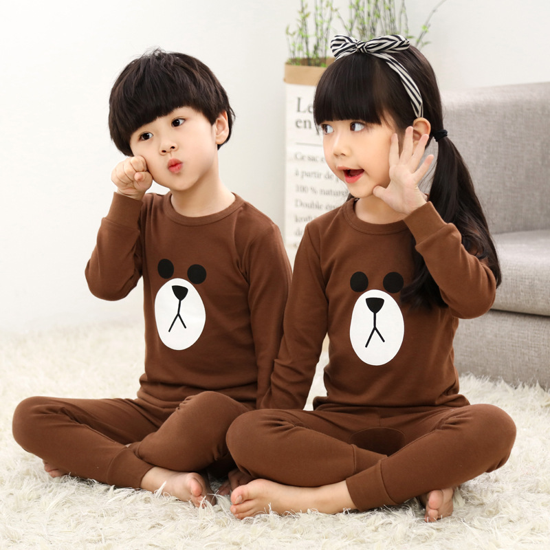 Children Clothes Kids Clothing Set Boys Pajamas Sets Cartoon Nightwear Print Pajamas Girls Pyjamas Cotton Sleepwear Baby Pyjama 2018 spring kids girls sleepwear cotton cartoon print infant pajamas for girls home clothes t shirt pants suit kids clothing set