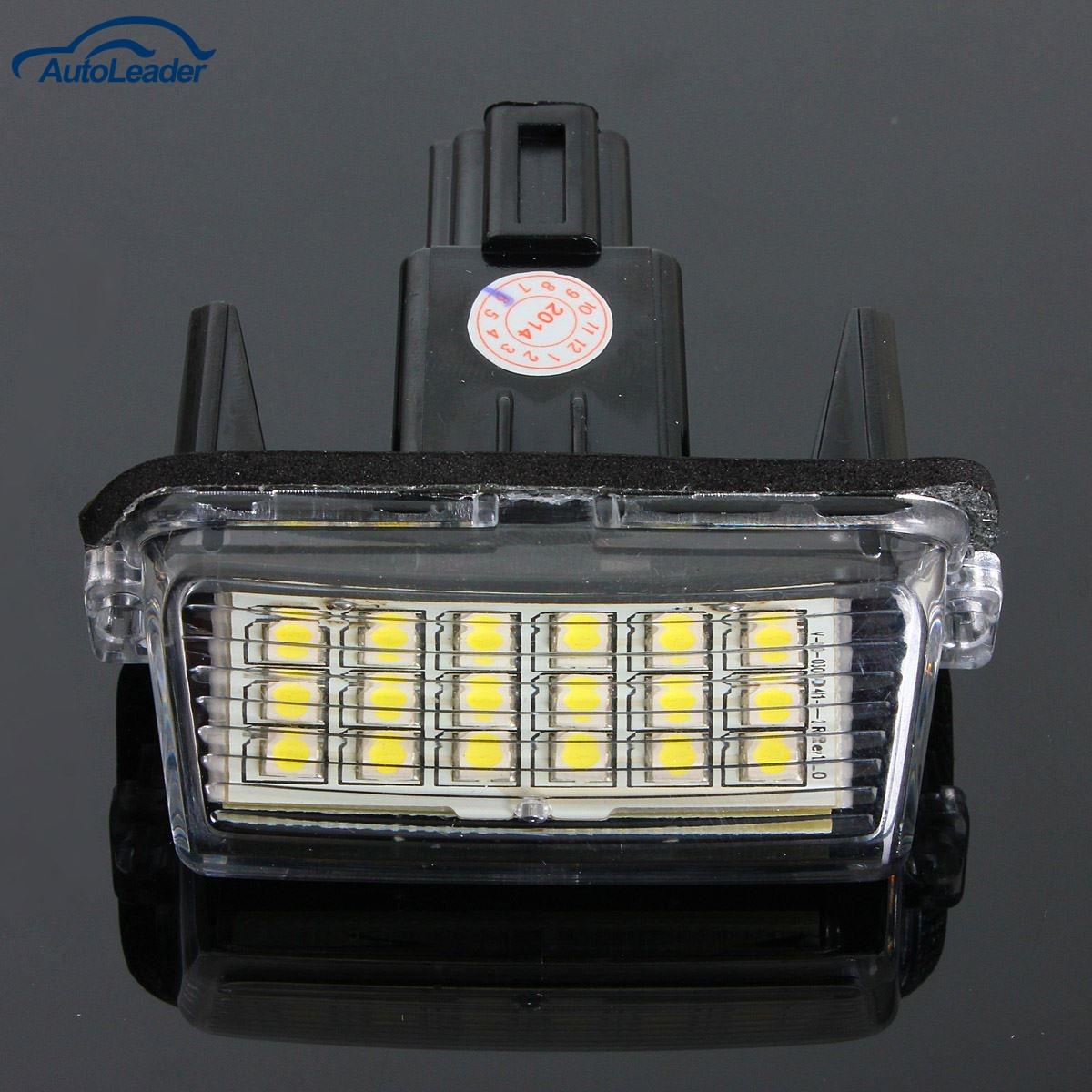 Безошибочным 2шт 12V 18 светодиодный 6000К номерной знак свет лампы для Toyota/Камри/Ярис/Форд/гибрид
