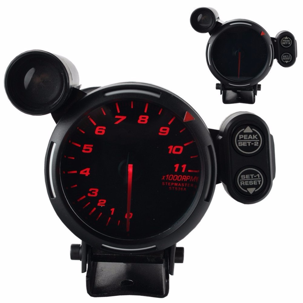80mm Car RPM Tachometer 0 11000RPM With Shift Light Fit For 1 to 8 cylinders With Logo-in Tachometers from Automobiles & Motorcycles    2