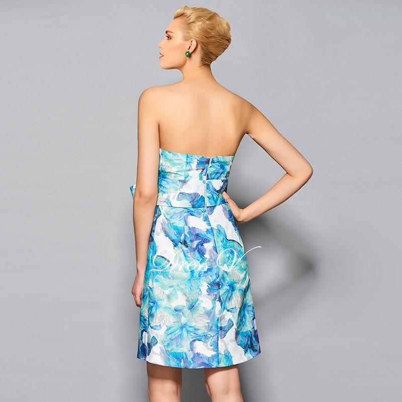 Dressv bowknot blumendruck mini cocktail dress riemen ärmellose ...