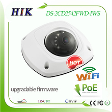 Hikvision  Upgradable English Version DS-2CD2542FWD-IWS 4MP Mini Dome IP Network Camera wifi POE IP Cam True WDR Internal Audio