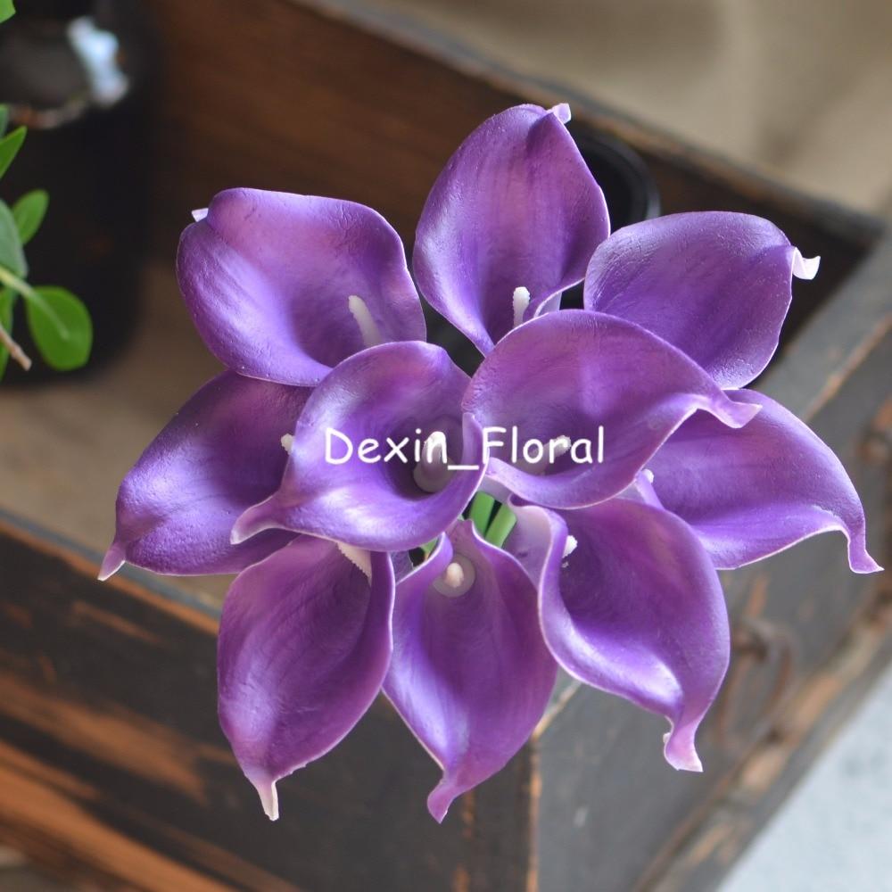 Wedding Flowers Lilies Purple Royal Purple Ca...