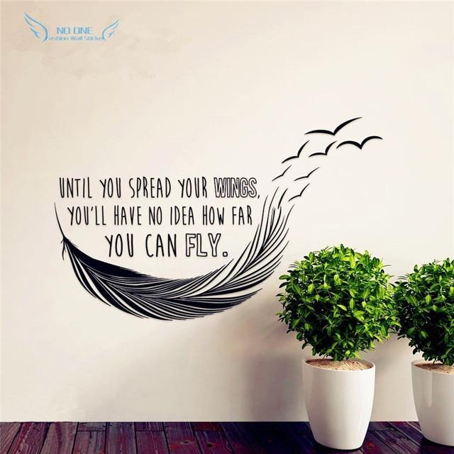 Inspirational Quotes Totdat Je Verspreid Uw Vleugels Hebben Geen