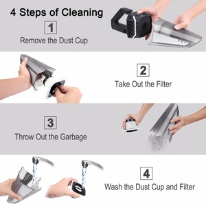 Image 4 - 4500Pa Vacuum Cleaner Super Suction Cordless Battery Rechargeable Vacuum Cleaner Dust Clean Wet&Dry Dual Use For Home And Car