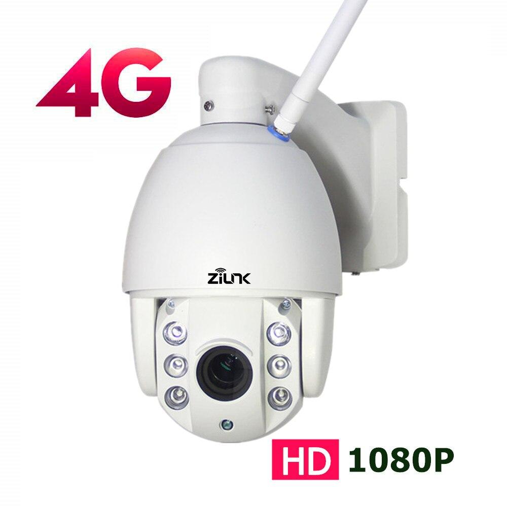 ZILNK 3g 4 г sim карта наружная PTZ купольная ip камера 1080 P 13,5 2,7 мм Автоматический зум ночного видения 60 м видеонаблюдения беспроводная wifi камера